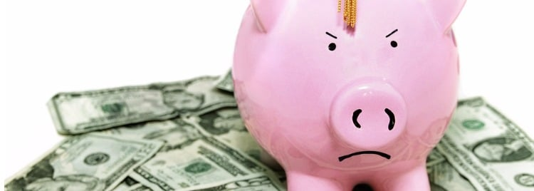 angry piggy bank with graduation cap picture id647113012